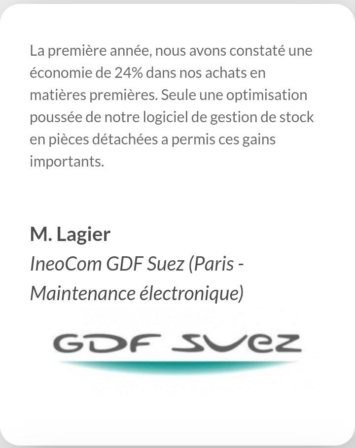 Avis de GDF-Suez, utilisateur de Stocknet