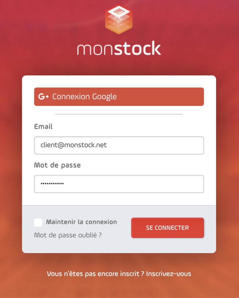 Connexion pour une commande directe par un client chez le fournisseur possédant Monstock Cloud