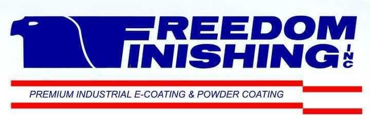 logo Freedom finishing, producteur d'e-coating et de peinture en poudre premium