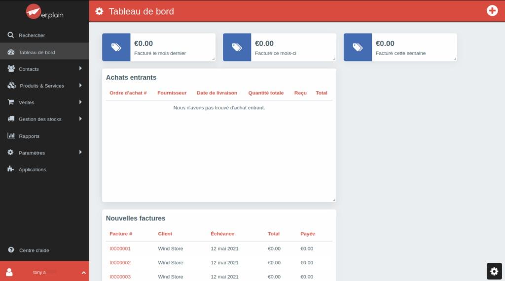 Interface de Erplain 5 meilleurs logiciels de gestion de stock