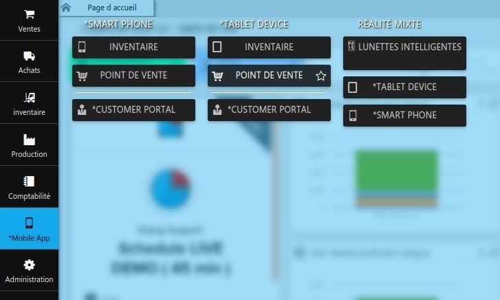 Menu Mobile App erpag