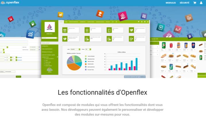 Tableau de bord avec des statistiques dans Openflex élu meilleur logiciel de gestion de stock 2021
