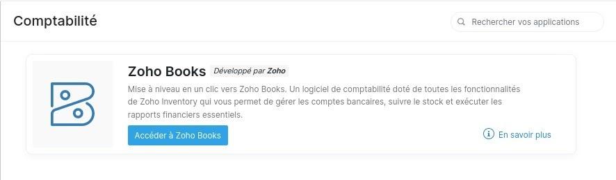 Zoho Books avec Zoho Inventory